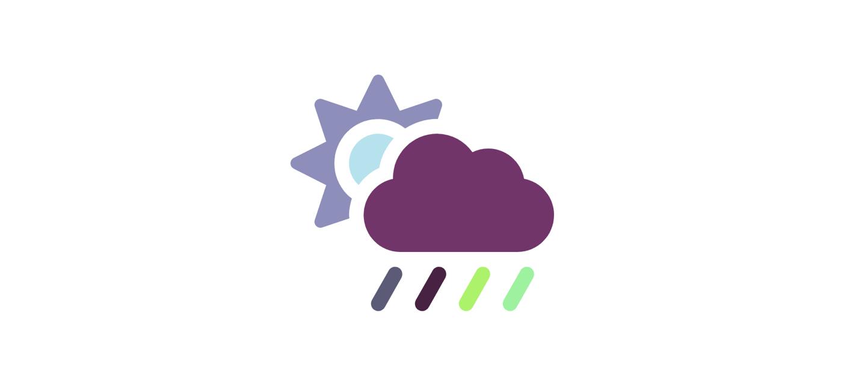 sun-cloud-rain icon colored